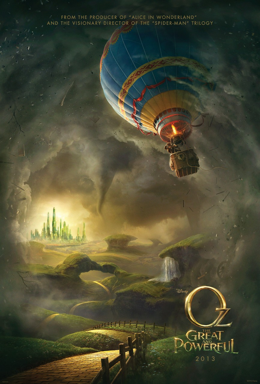 Oz: the great and powerful teaser poster.