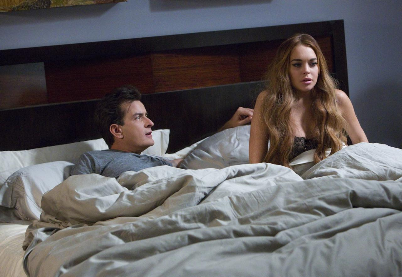 Scary Movie 5 primeras imágenes: Sheen y Lohan together.