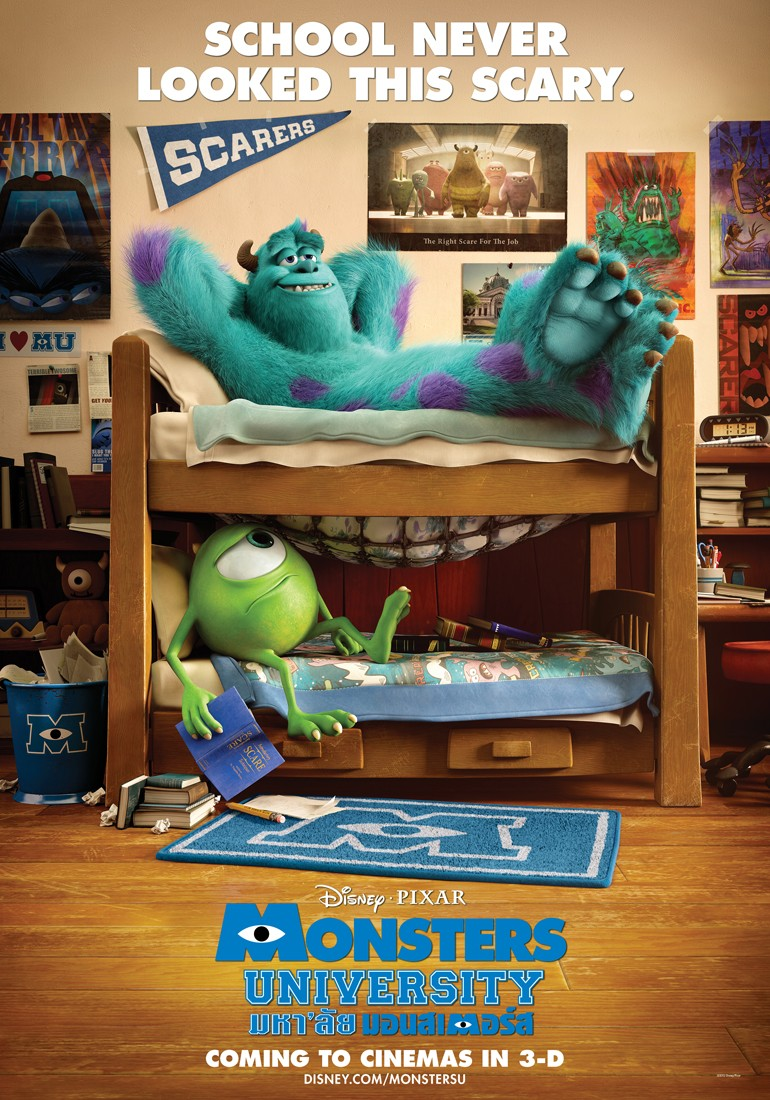 Monsters University teaser posters.