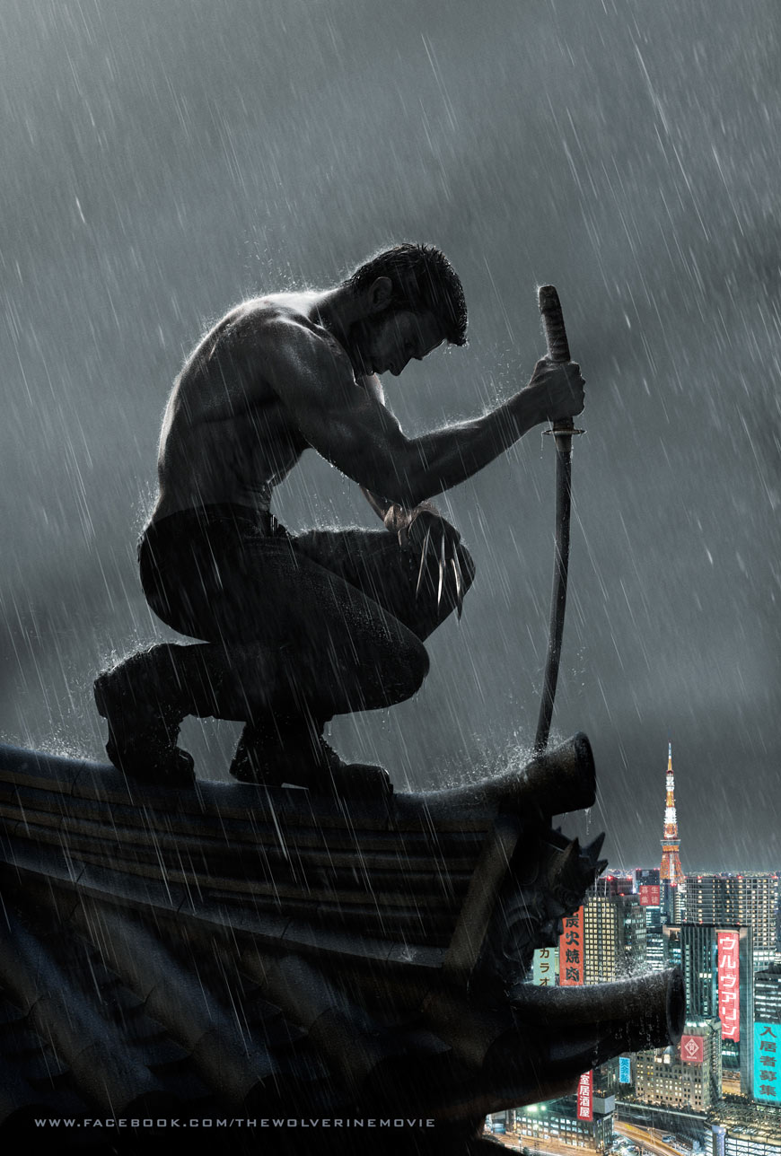 Lobezno inmortal (The Wolverine) teaser posters.