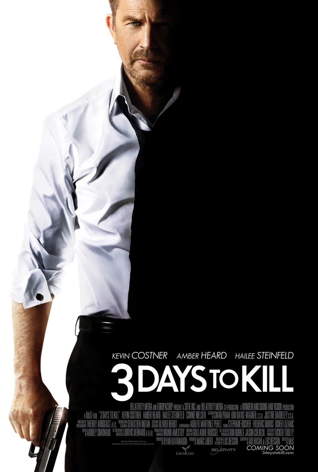3 days to kill tráiler: Costner y Besson unen fuerzas.