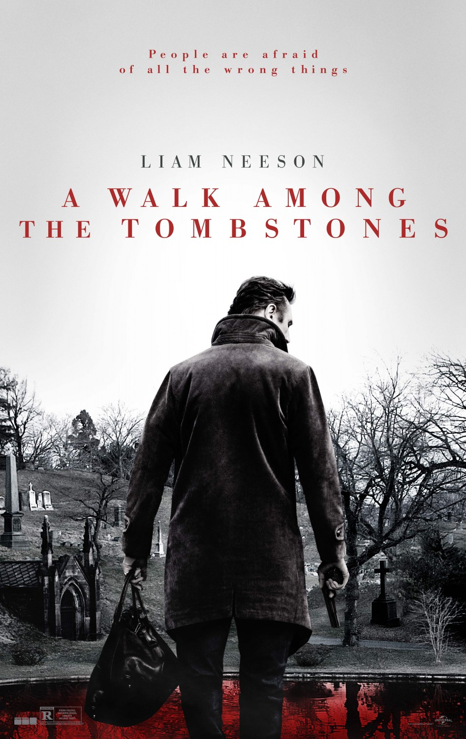 A walk among the tombstones trailer.