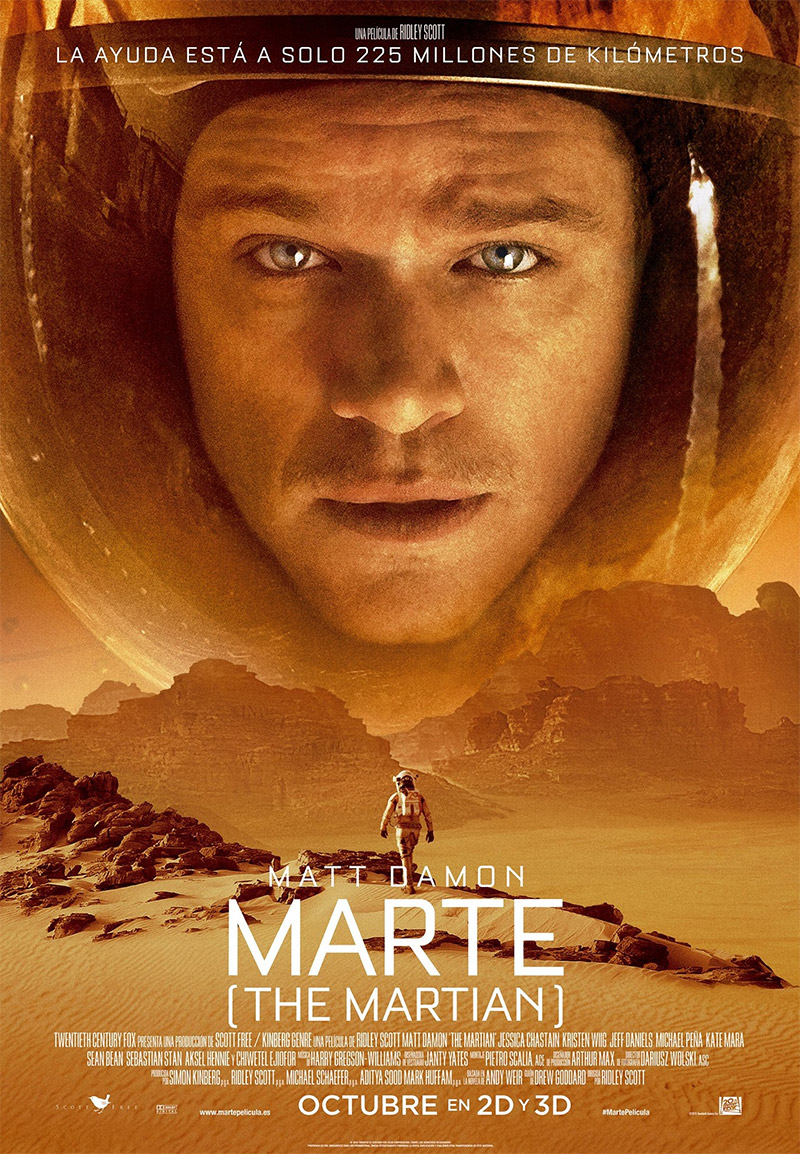 Marte (The Martian). El solitario optimista.