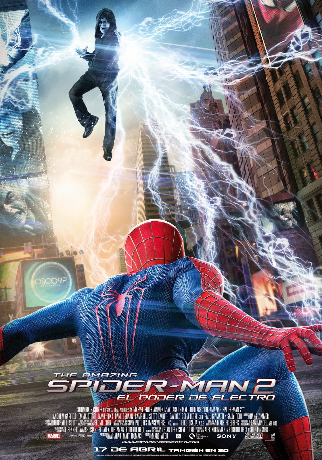 The Amazing Spiderman 2: El poder de Electro tráiler final.