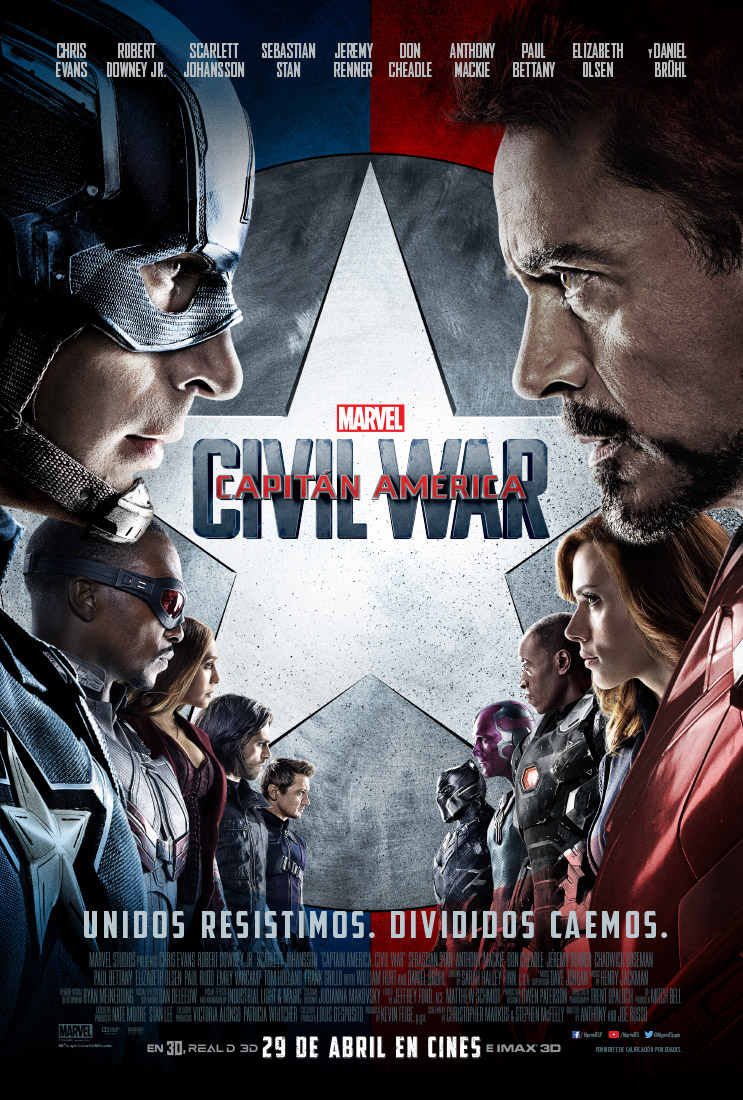 Capitán América: Civil War tráiler final.